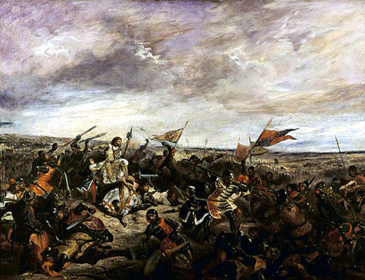 Painting of Battle of Poitiers