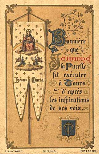 Joan of Arc's Banner French Holy Card