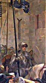 Jean de Metz in painting of Joan of Arc departing Vaucouleurs