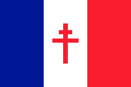 French Flag with Lorraine Cross