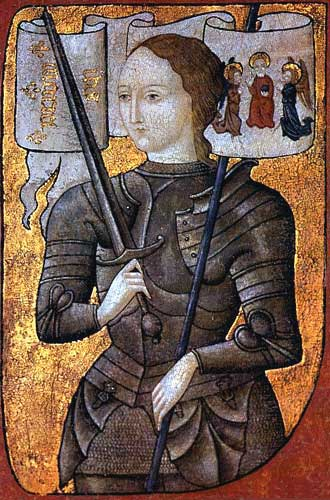 Painting of Joan of Arc before Charles VII by Gillot Saint-Evre