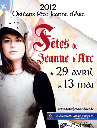 Poster for Joan of Arc Festival in Orleans France