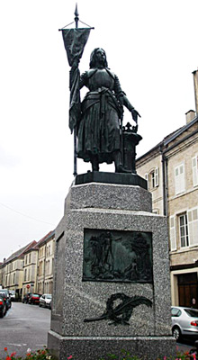 Joan of Arc statue in Neufchateau - Photo courtesy of John Edward Paver