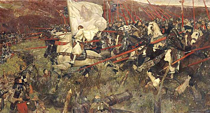 Painting of Joan of Arc in Battle by Frank Craig