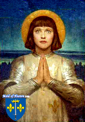 Portrait of Saint Joan of Arc by Frank Dicksee