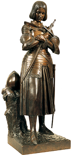 Statue of Joan of Arc in Domremy by Princess Marie d'Orleans