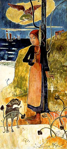 Painting of Joan of Arc with her Voices by Paul Gauguin