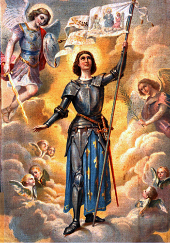 Joan of Arc Vatican Banner Painting