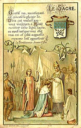 Holy Card of Joan of Arc at the Coronation of Charles VII