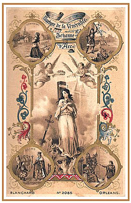 Holy Card commemorating Joan of Arc being declared venerable