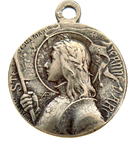 Antique Joan of Arc Holy Medal