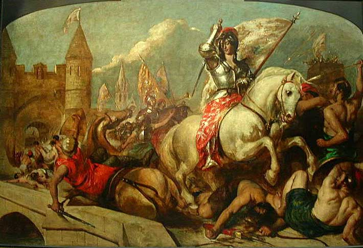 Joan of Arc on Horseback by William Etty