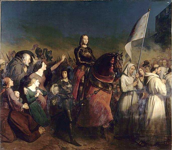 Painting of Joan of Arc on Horseback by Henry Scheffer