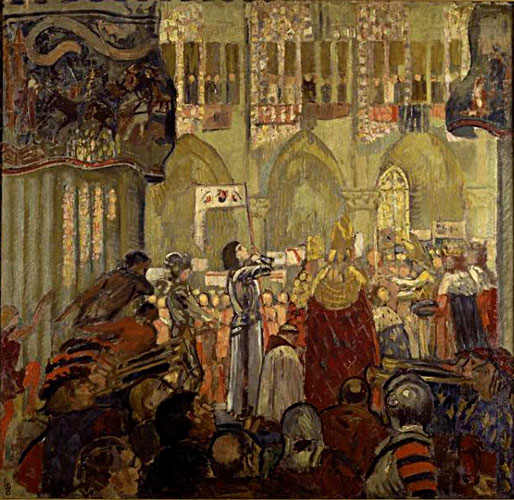 joan of arc at the Cornation of Charles VII by Maurice Denis