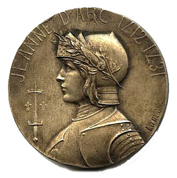 Front of Joan of Arc medal