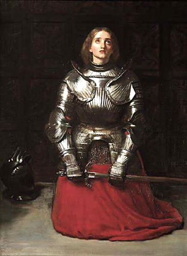 Joan of Arc at Prayer by Sir John Everett Millais