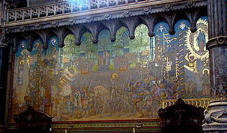 Photo of Mural depicting the life of Joan of Arc on Lyon