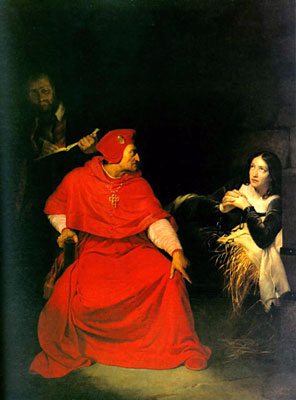 Painting of Joan of Arc in prison by Paul Delaroche