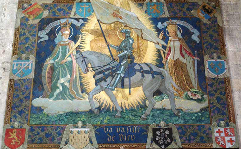 Photo of Mural of Joan of Arc on Horseback