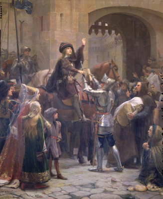 Joan of Arc leaving Vaucouleurs by Scherrer