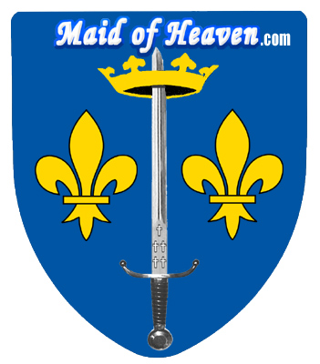 Shield displaying the Coat of Arms of Joan of Arc