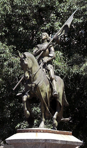 Statue of Joan of Arc on horseback in Toulouse, France