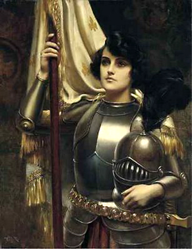 Joan of Arc with her banner by Harold H. Piffard