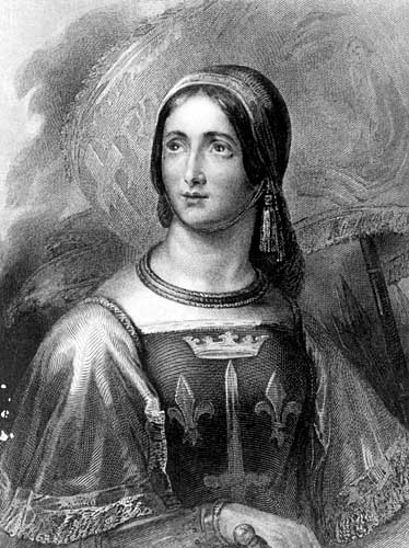 Engraved Portrait of Joan of Arc