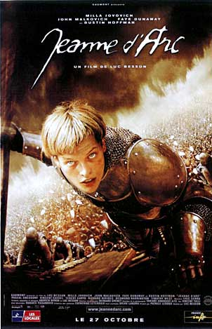 Poster for the Movie The Messenger: The Story of Joan of Arc starring Milla Jovovich
