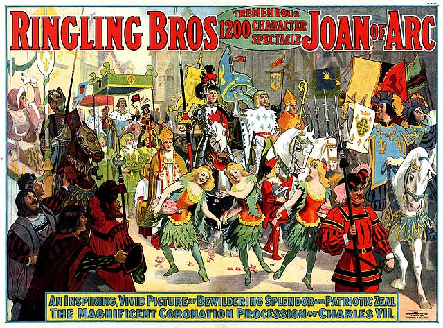 Promotional Poster for Ringling Bros Circus act about Joan of Arc