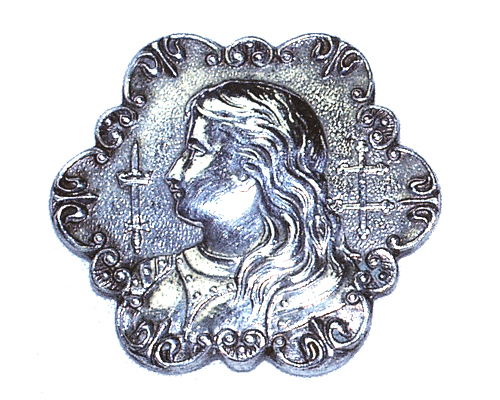 19th Century Silver Medal of Joan of Arc