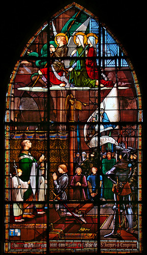 Stained Glass Window of Joan of Arc in Rouen France