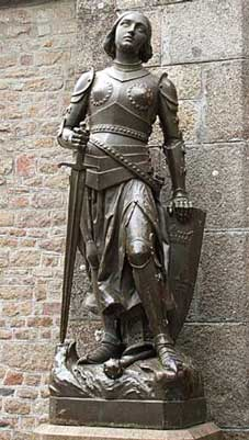 Joan of Arc and Her Sword Statue