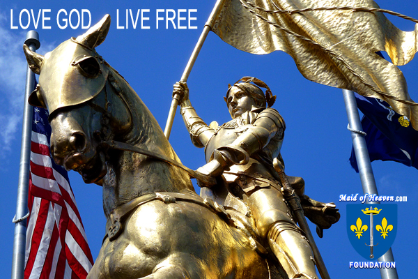 Closeup of Statue of Joan of Arc Statue in New Orleans - Photo by Bill Hayes