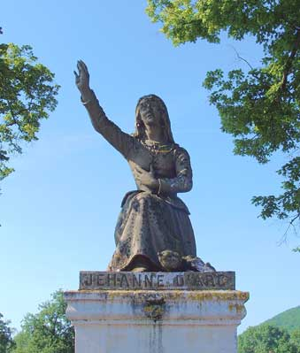 Statue of Joan of Arc in Domremy
