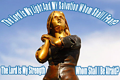 St. Joan of Arc Statue the Lord is My Light