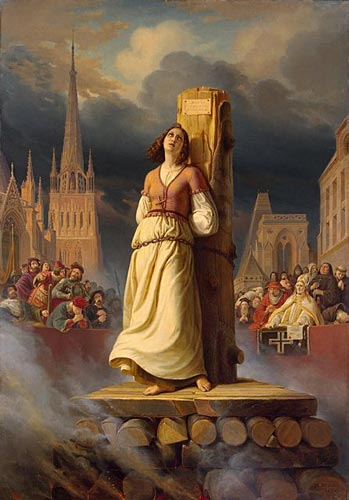 Painting of Joan of Arc Being Burned at the Stake by STilke