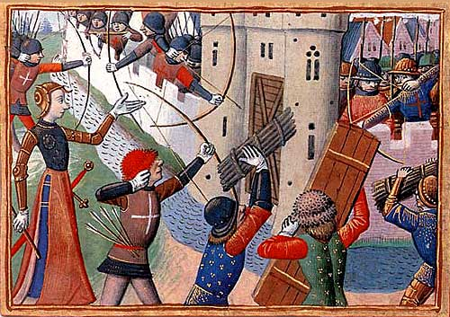 Miniature of Joan of Arc Leading the Assault at Paris