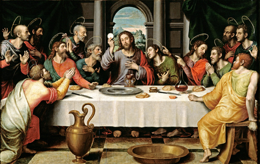 Communion during Last Supper of Jesus Christ