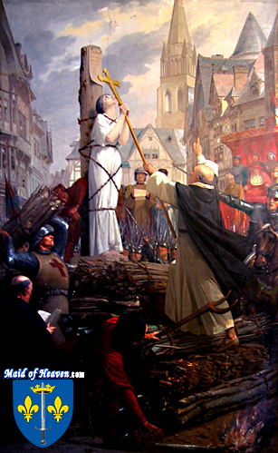 Joan of Arc at the stake by Jules-Eugène Lenepveu