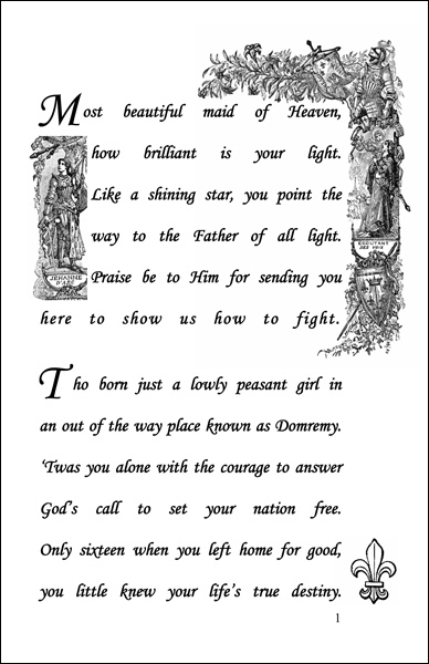 First page of Maid of Heaven: The Story of Saint Joan of Arc