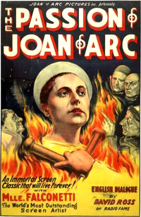 Movie Poster for The Passion of  Joan of Arc