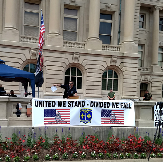 Maid of Heaven Foundation Banner at Patriot Day 2nd Amendment Freedom Rally