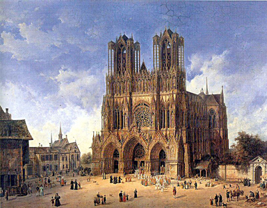 Picture of the Cathedral of Reims where Joan of Arc once crowned Charles VII King of France