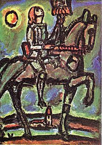 Painting of Joan of Arc by Georges Rouault
