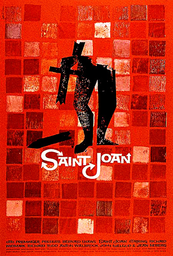 Joan of Arc Movie Poster for Saint Joan