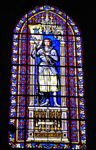 Stained Glass Window featuring Joan of Arc