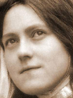 Photo of St. Therese with Crosses in Eyes