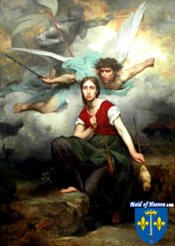Painting of Joan of Arc with her Voices by Eugene Thirion