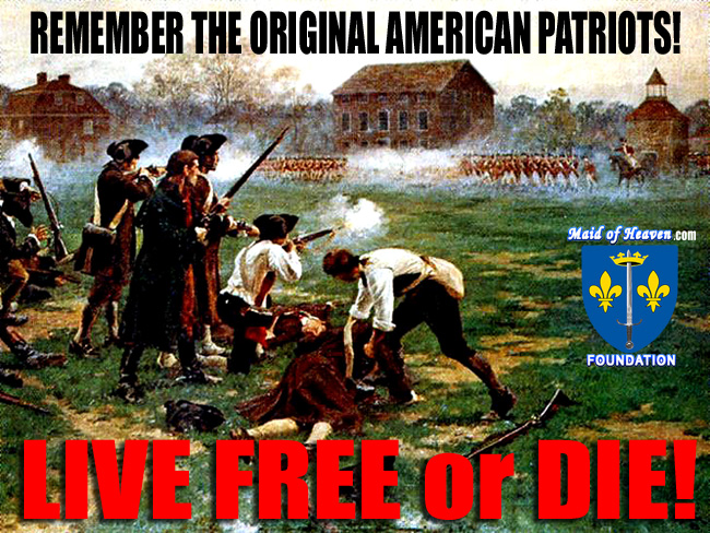 Original American Patriots Firing Shot Heard Round the World at Lexington